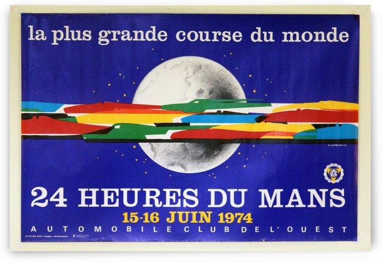 24 Heures Du Mans Vintage Poster by VINTAGE POSTER