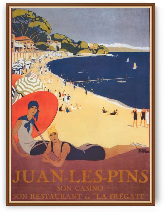 Juan Les Pins Son Casino Poster by VINTAGE POSTER