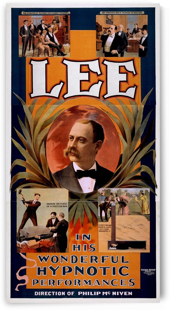 Magic poster for Lee, a phone hypnotist, from 1898 by VINTAGE POSTER