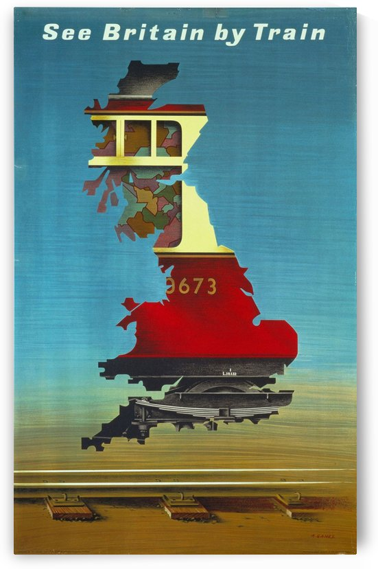See Britain by Train, 1951 vintage poster by VINTAGE POSTER