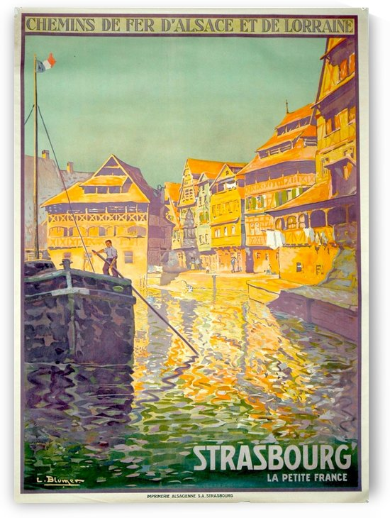 Strasbourg travel poster in 1930 by VINTAGE POSTER
