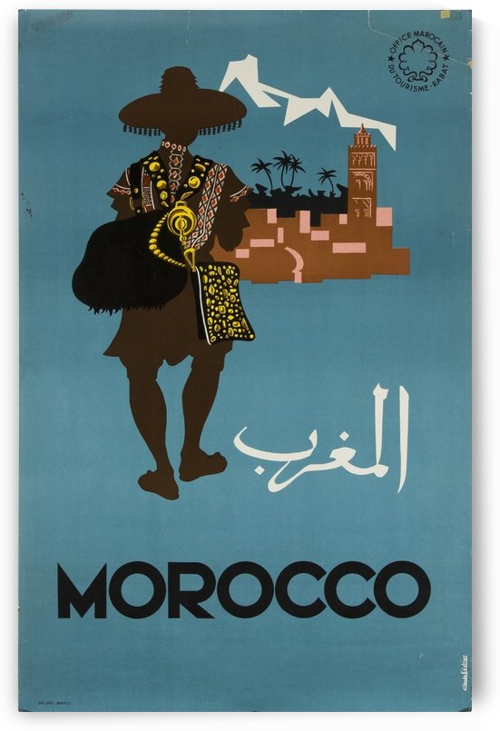Morocco Vintage Travel Poster by VINTAGE POSTER