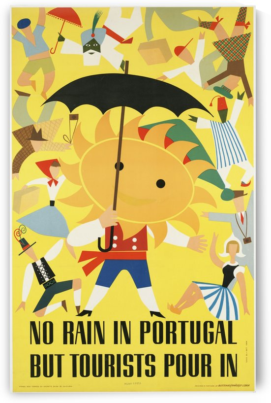 Vintage Travel Poster for Portugal in 1954 by VINTAGE POSTER