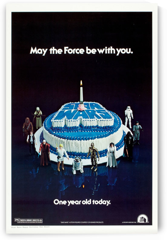1978 Star Wars Birthday Cake Poster by VINTAGE POSTER