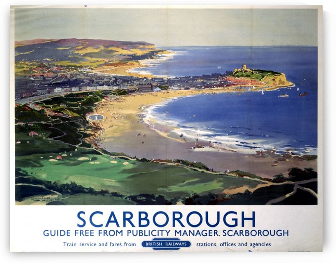 Scarborough British Railways poster by VINTAGE POSTER