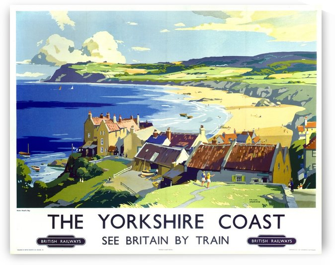 The Yorkshire Coast British Railways poster by VINTAGE POSTER