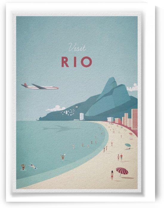 Visit Rio Vintage Travel Poster by VINTAGE POSTER