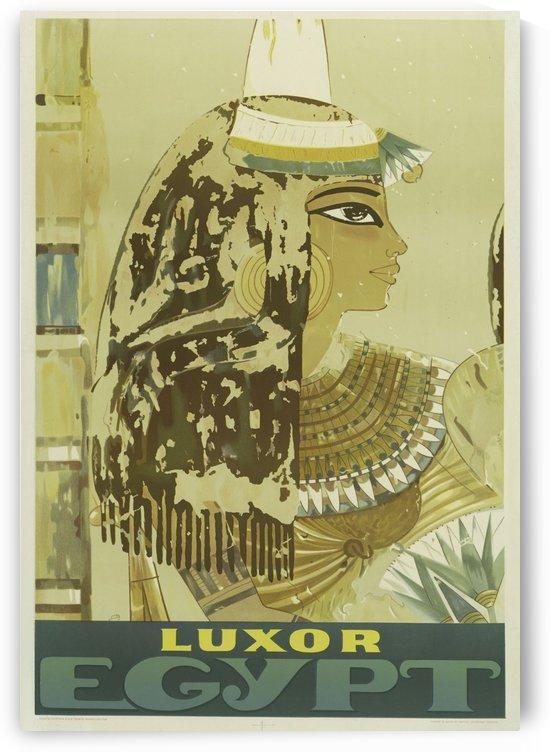 Luxor Egypt vintage travel poster by VINTAGE POSTER