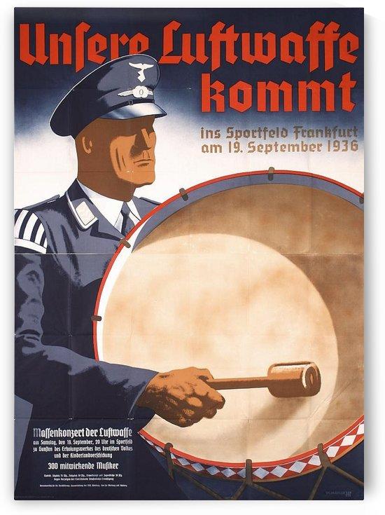 Unsere Luftwaffe kommt 1936 poster by VINTAGE POSTER