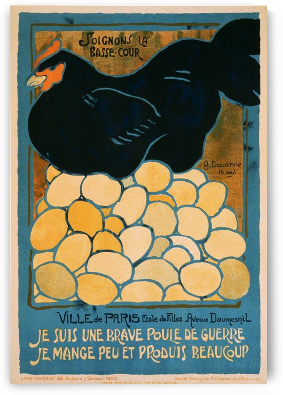 I am a good war hen, propaganda poster in 1916 by VINTAGE POSTER