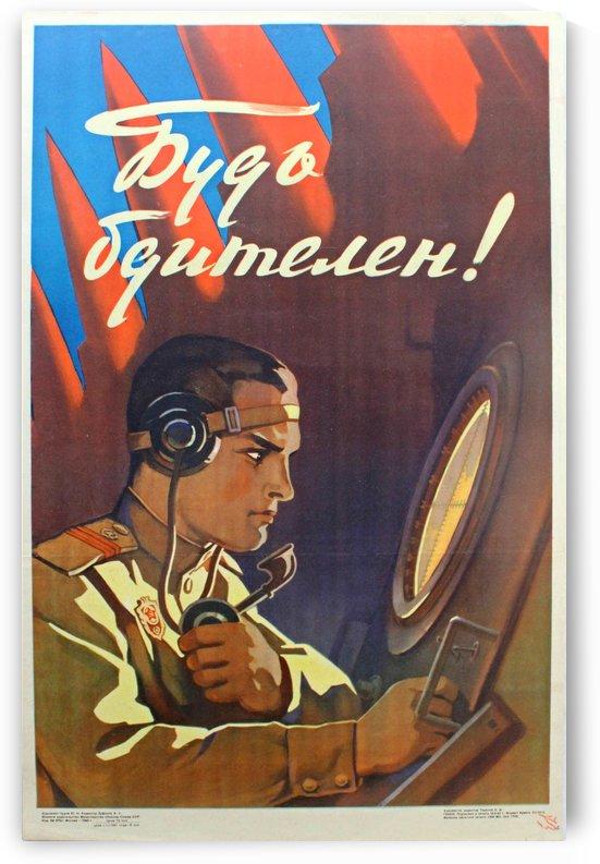 Original Vintage 1960 Soviet Propaganda Poster by VINTAGE POSTER