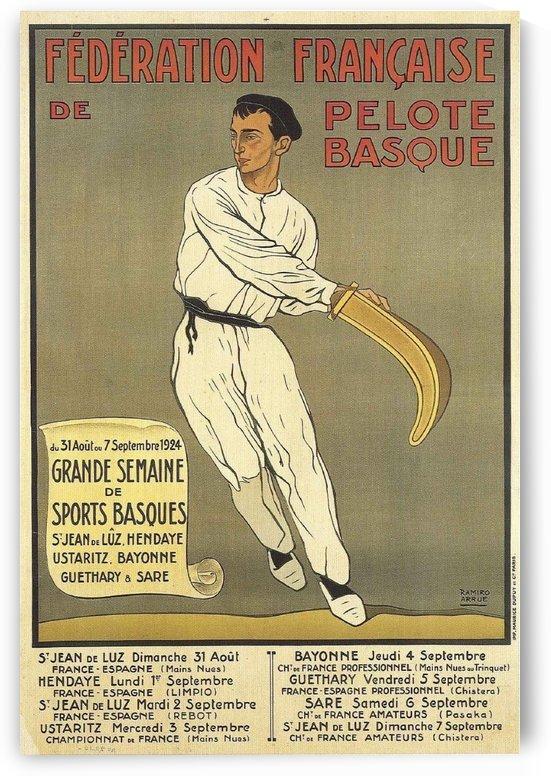 Vintage poster for Federation Francaise de Pelote Basque by VINTAGE POSTER