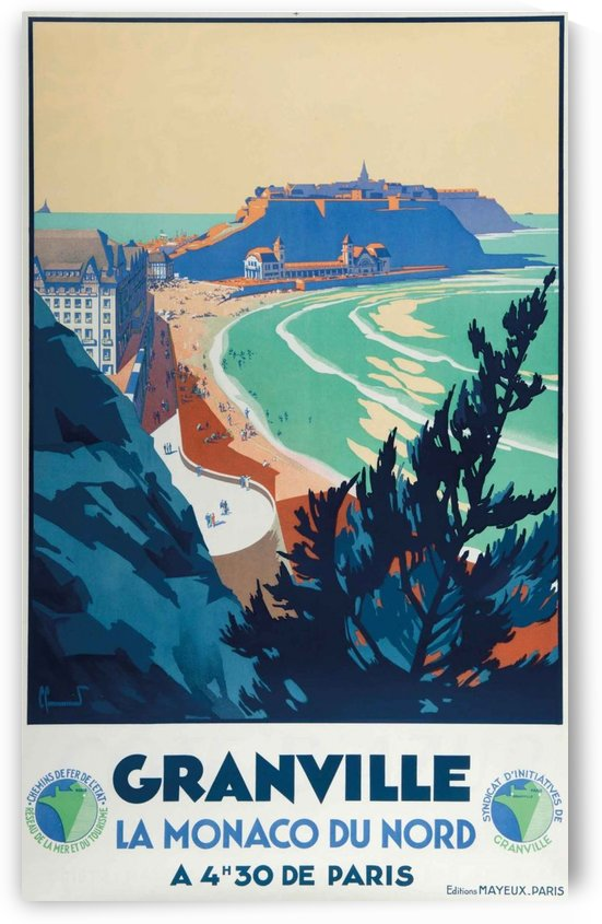Granville La Monaco du Nord Poster by VINTAGE POSTER