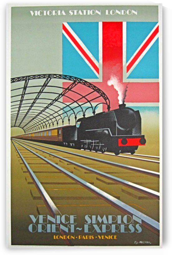 Victoria Station London Orient Express Poster by VINTAGE POSTER