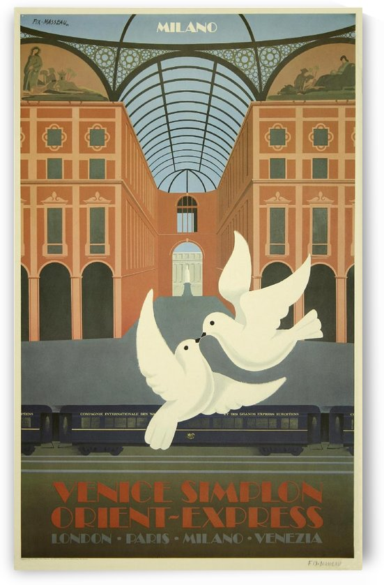 Milan Orient Express Poster by VINTAGE POSTER