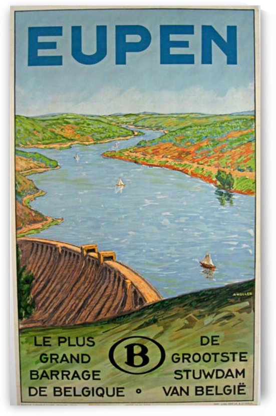 Eupen Belgium original vintage travel poster from 1928 by VINTAGE POSTER