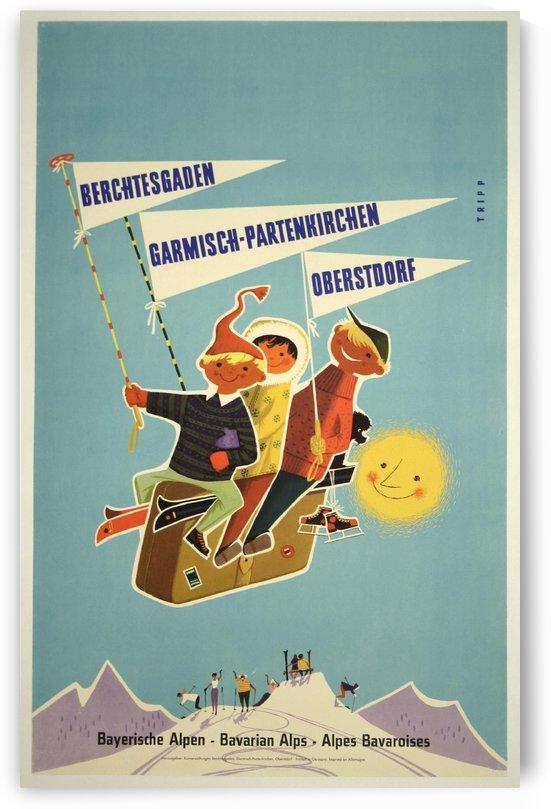 Vintage Bavarian Alps, Germany Travel Poster by VINTAGE POSTER
