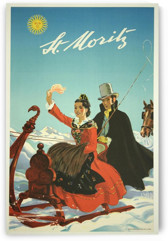 St Moritz Travel Poster by VINTAGE POSTER