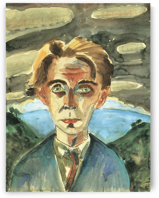 Self Portrait in Barcelona by Walter Gramatte by Walter Gramatte