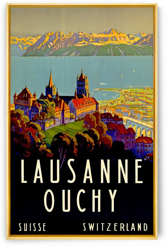 Lausanne Switzerland Travel Poster by VINTAGE POSTER
