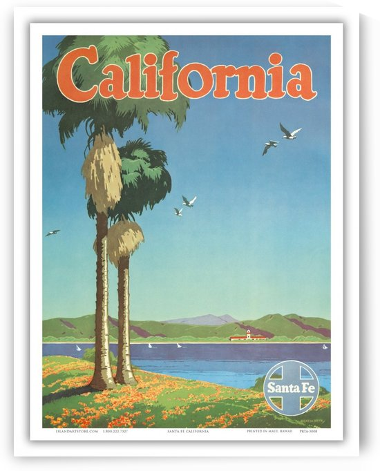 California Santa Fe Poster by VINTAGE POSTER