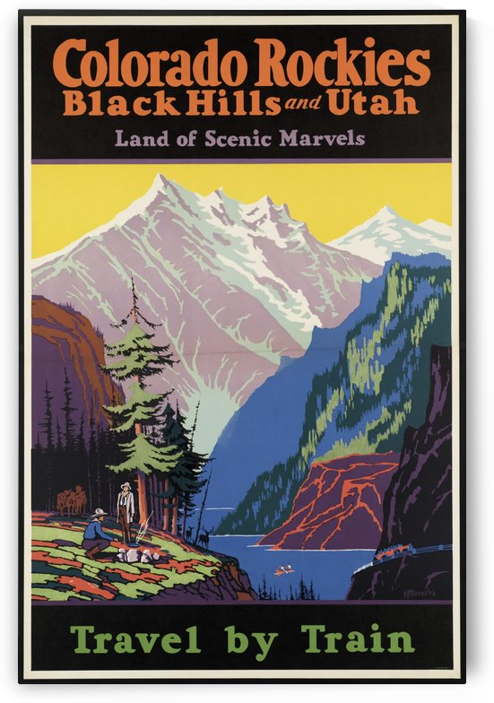 Colorado Rockies, Black Hills, and Utah travel poster by VINTAGE POSTER