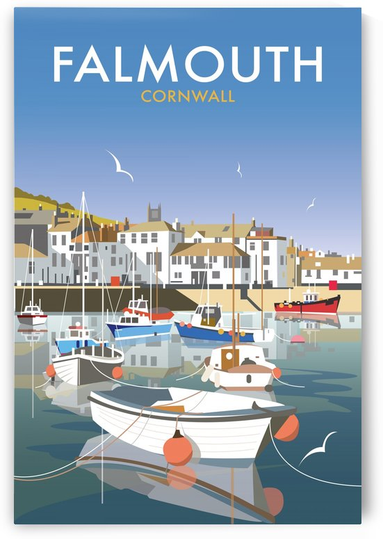 Falmouth Cornwall vintage travel poster by VINTAGE POSTER