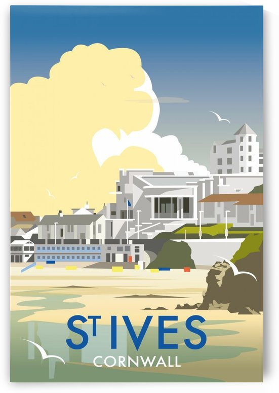 Saint Ives Cornwall vintage travel poster by VINTAGE POSTER