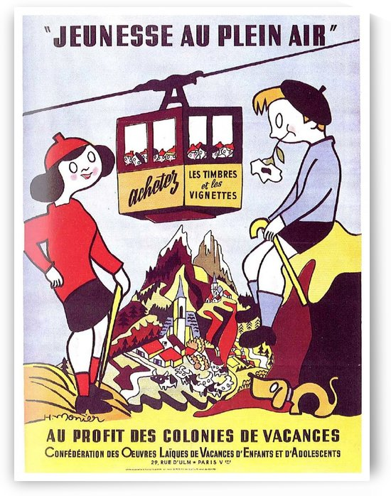 Jeunesse au Plein Air vintage travel poster by VINTAGE POSTER