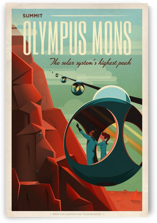 Summit Olympus Mons poster by VINTAGE POSTER