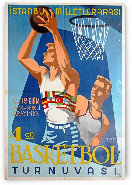 Vintage poster for Basketball Tournament in Istanbul by VINTAGE POSTER