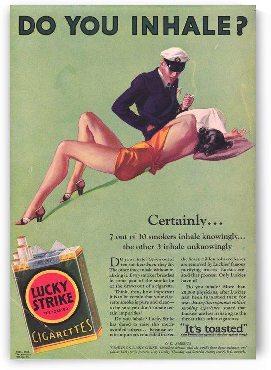 Vintage Cigarette Ad by VINTAGE POSTER