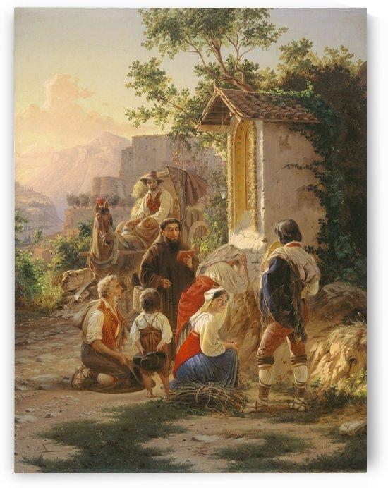 At the Chapel by Fyodor Bronnikov