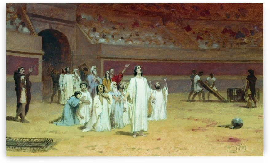 Christians in the arena by Fyodor Bronnikov