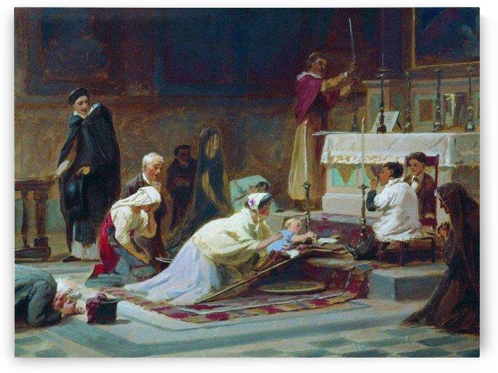 The Catholic Mass by Fyodor Bronnikov