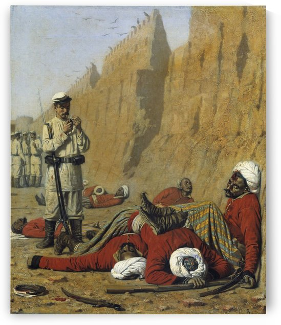 After failure 1868 by Vasily Vasilyevich Vereshchagin