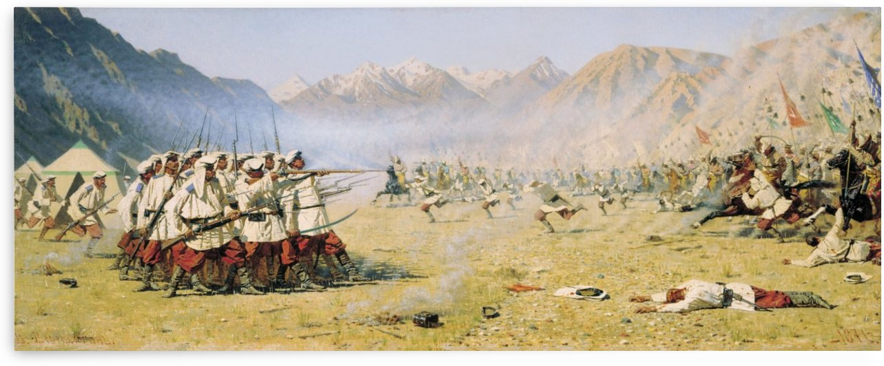 Unawares Attack 1871 by Vasily Vasilyevich Vereshchagin