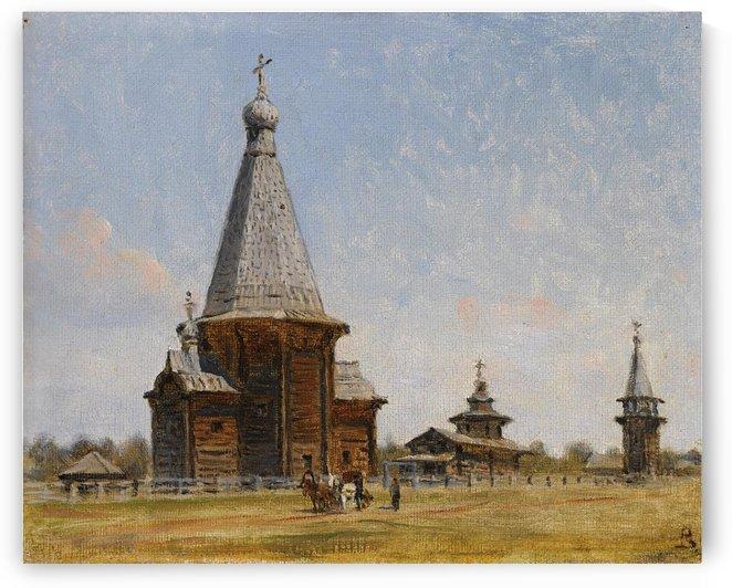 Provincial Russian Church by Vasily Vasilyevich Vereshchagin