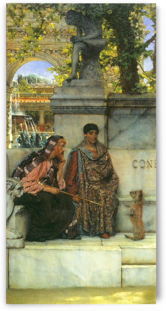 At the time of Constantine by Alma-Tadema by Alma-Tadema