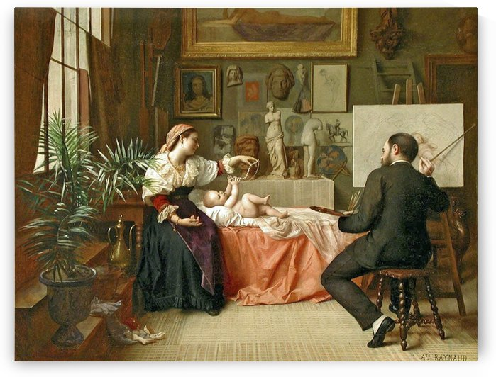The young model by Auguste Raynaud