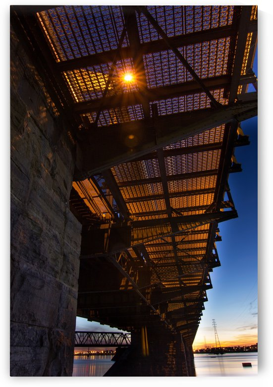 Under Victoria Bridge by CJNormandeau Photography