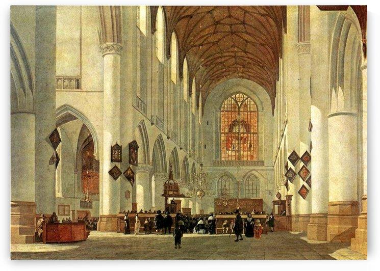 Interior of the Saint Bavo Church at Haarlem by Gerrit Adriaenszoon Berckheyde
