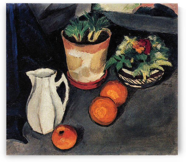 Still Life with Flowers and Milk Jug by August Macke by August Macke