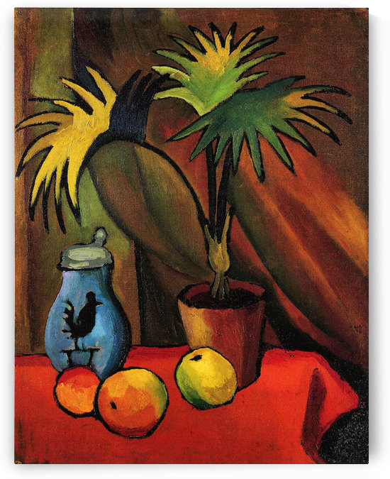 Still Life with Palms by August Macke by August Macke