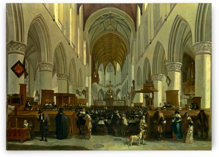 The Interior of the Grote Kerk, Haarlem by Gerrit Adriaenszoon Berckheyde