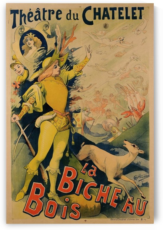 Original French Poster La Bicheau Bois Theatre du Chatalet by VINTAGE POSTER