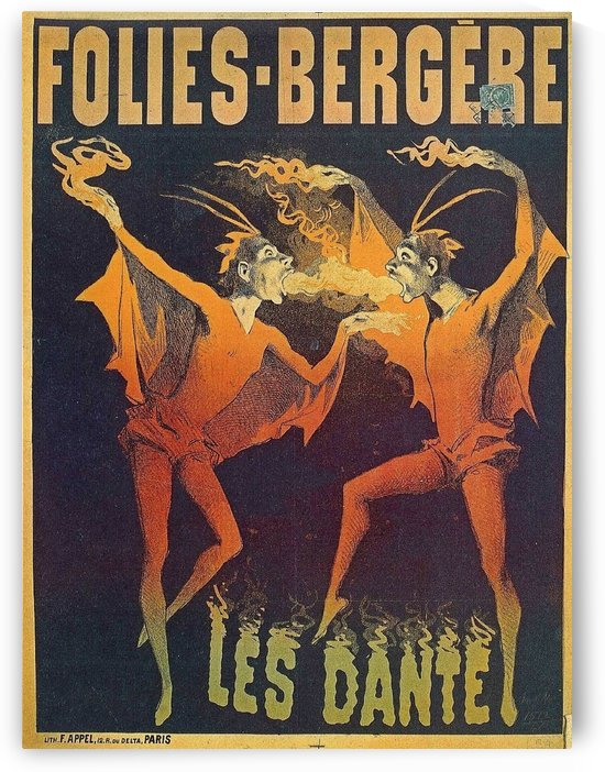 Follies Bergere Les Dante Vintage Poster by VINTAGE POSTER