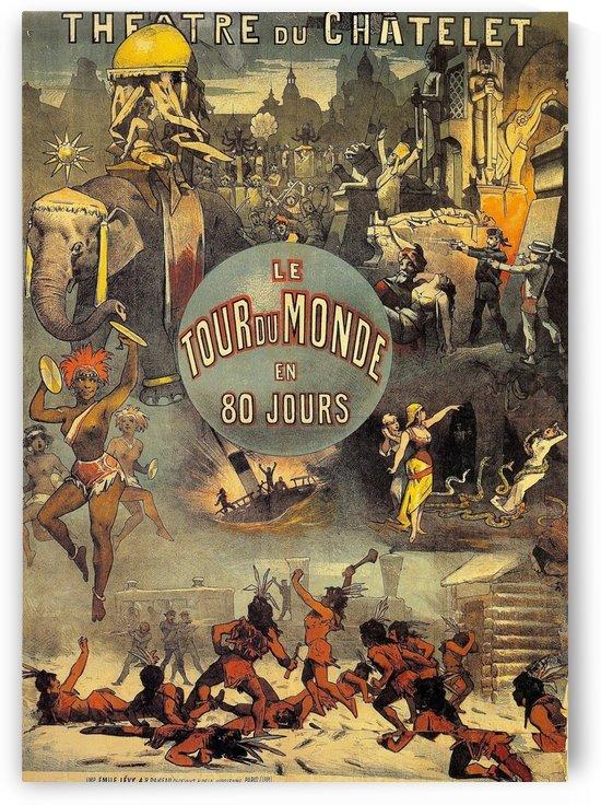 Le tour du monde en 80 jours vintage poster by VINTAGE POSTER