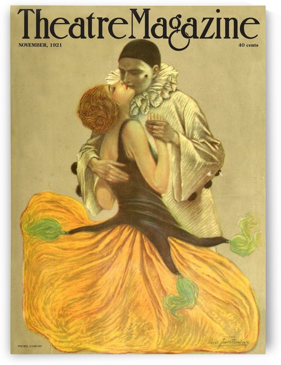 Theatre Magazine vintage poster 1921 by VINTAGE POSTER