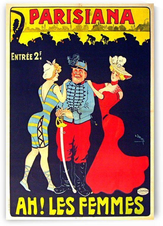 Parisiana Ah Les Femmes poster printed circa 1895 by VINTAGE POSTER